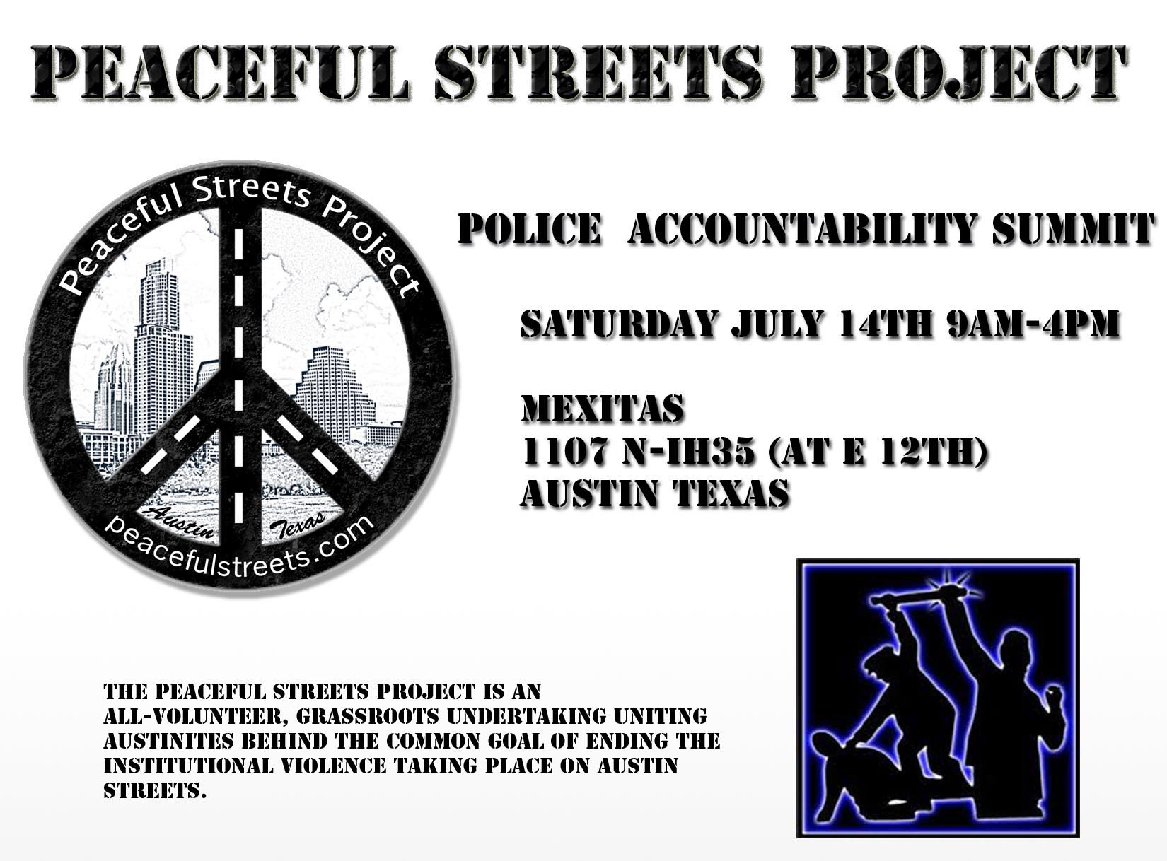 Peaceful Streets flier